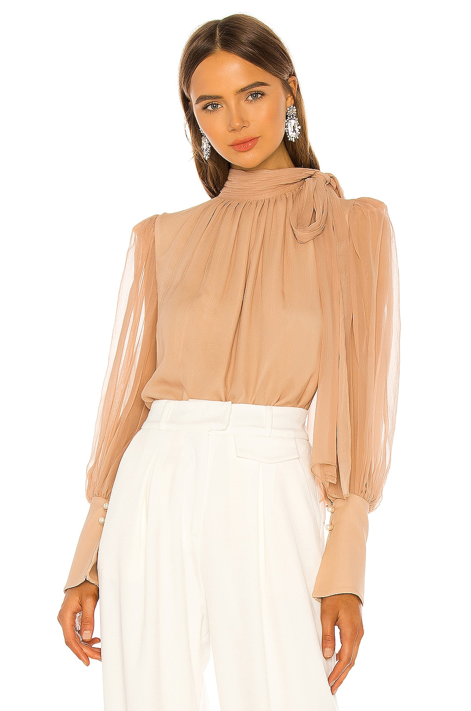 THURLEY Goddess Blouse in Rugby Tan