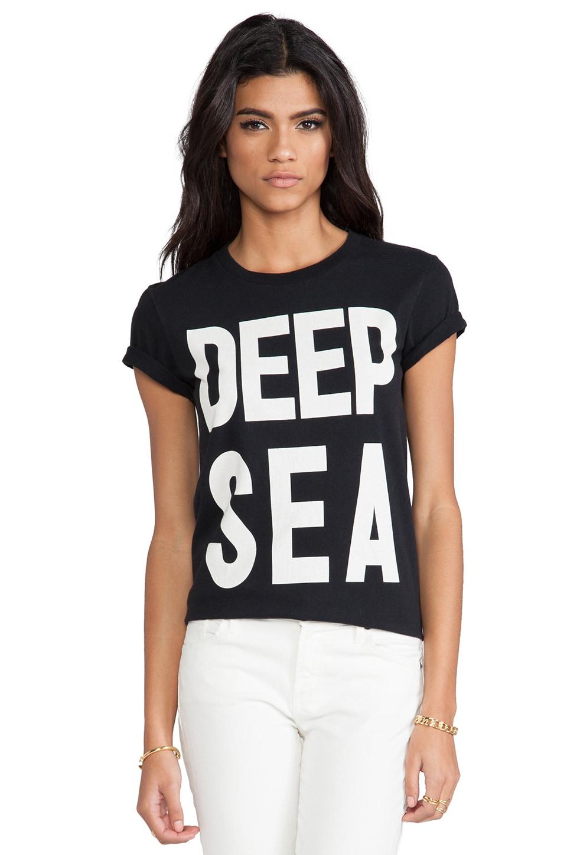 thvm Black Deep Sea Tee in Black