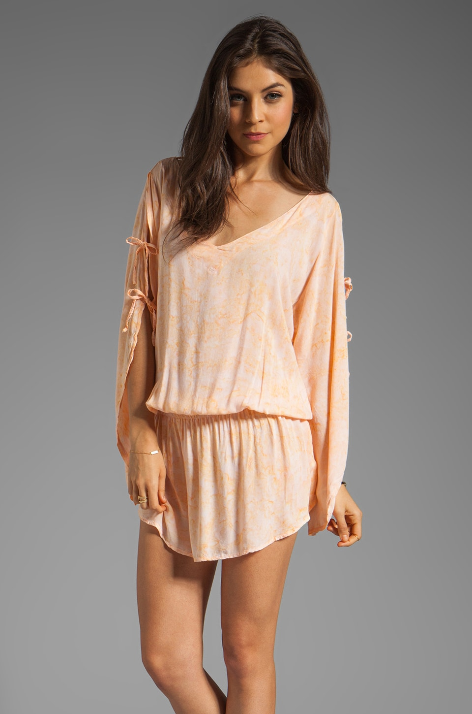 Tiare Hawaii Aphrodite Mini Dress in Melon Smoke