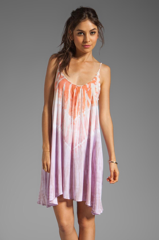Tiare Hawaii Dress Voile Stud in Pink/Orange