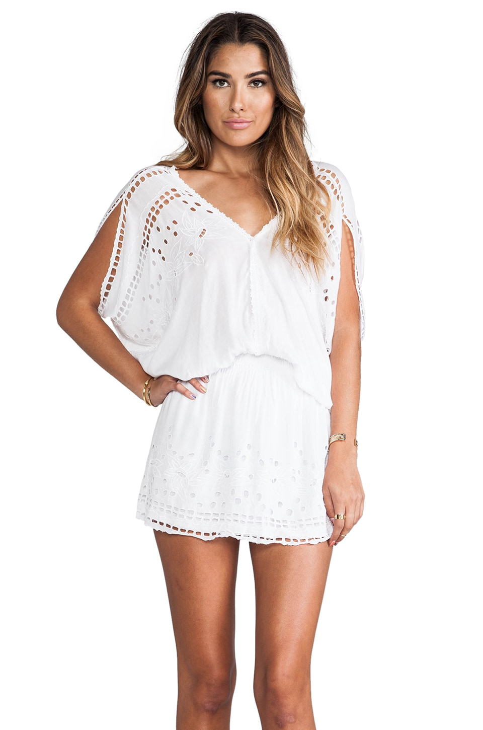 Tiare Hawaii Krawang Mini Dress in White