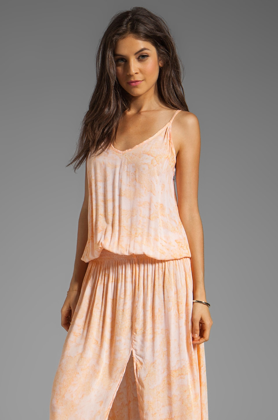 Tiare Hawaii Copacabana Drop Waist Dress in Melon Smoke