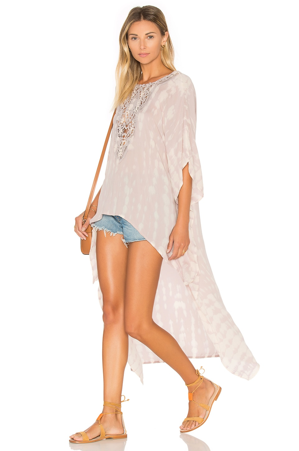 Tiare Hawaii Madagascar Tunic in Skin Tie Dye