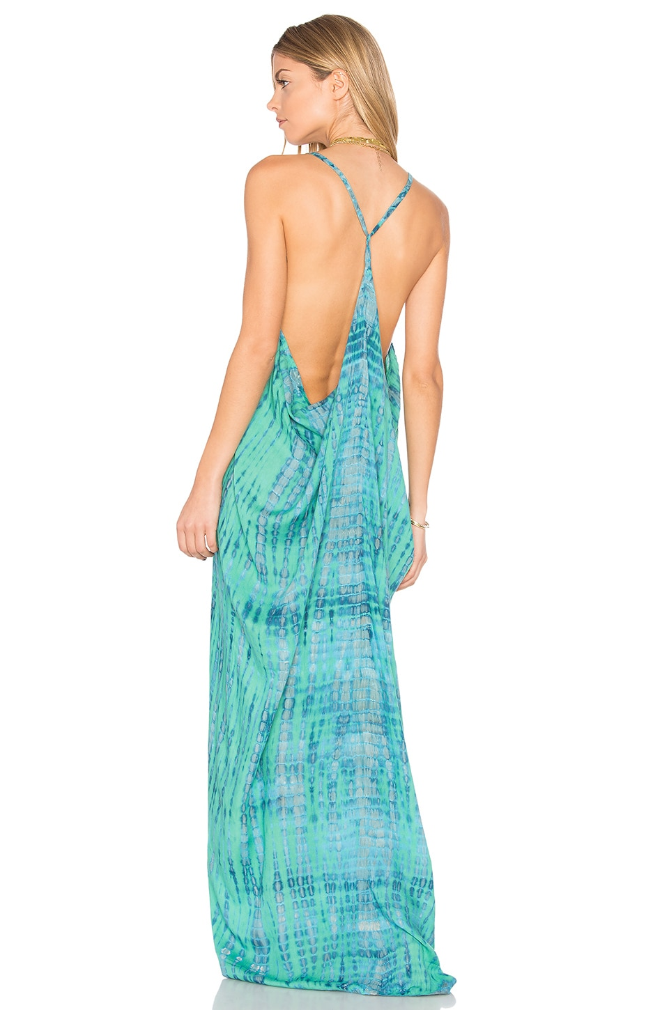 Tiare Hawaii Kalapana Maxi Dress in Leo Teal Stone