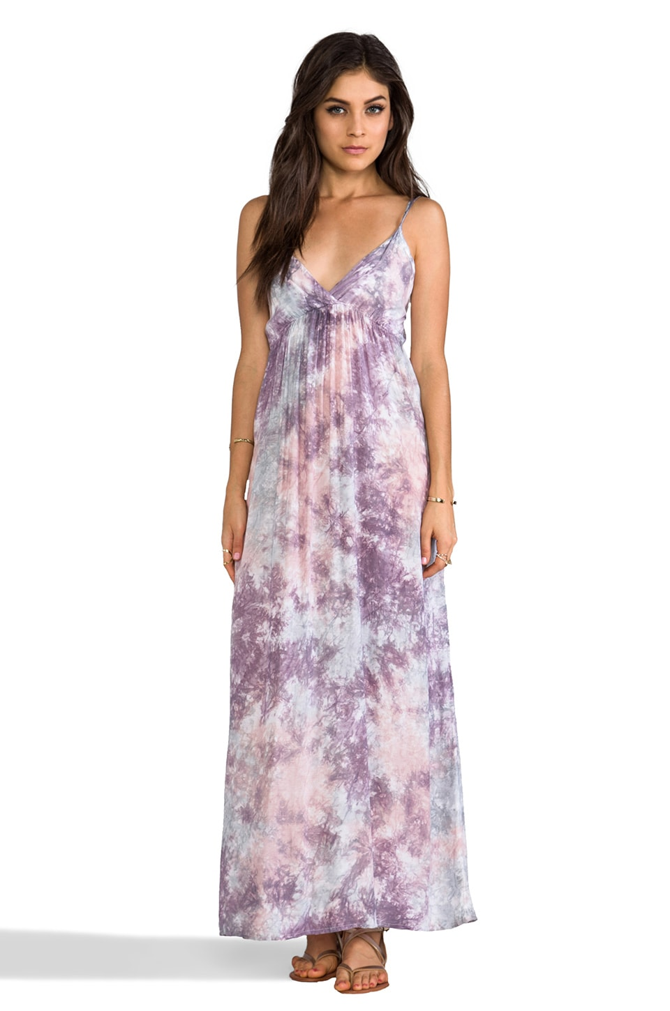 Tiare Hawaii Gacie Maxi Dress in Mauve Grey Smoke
