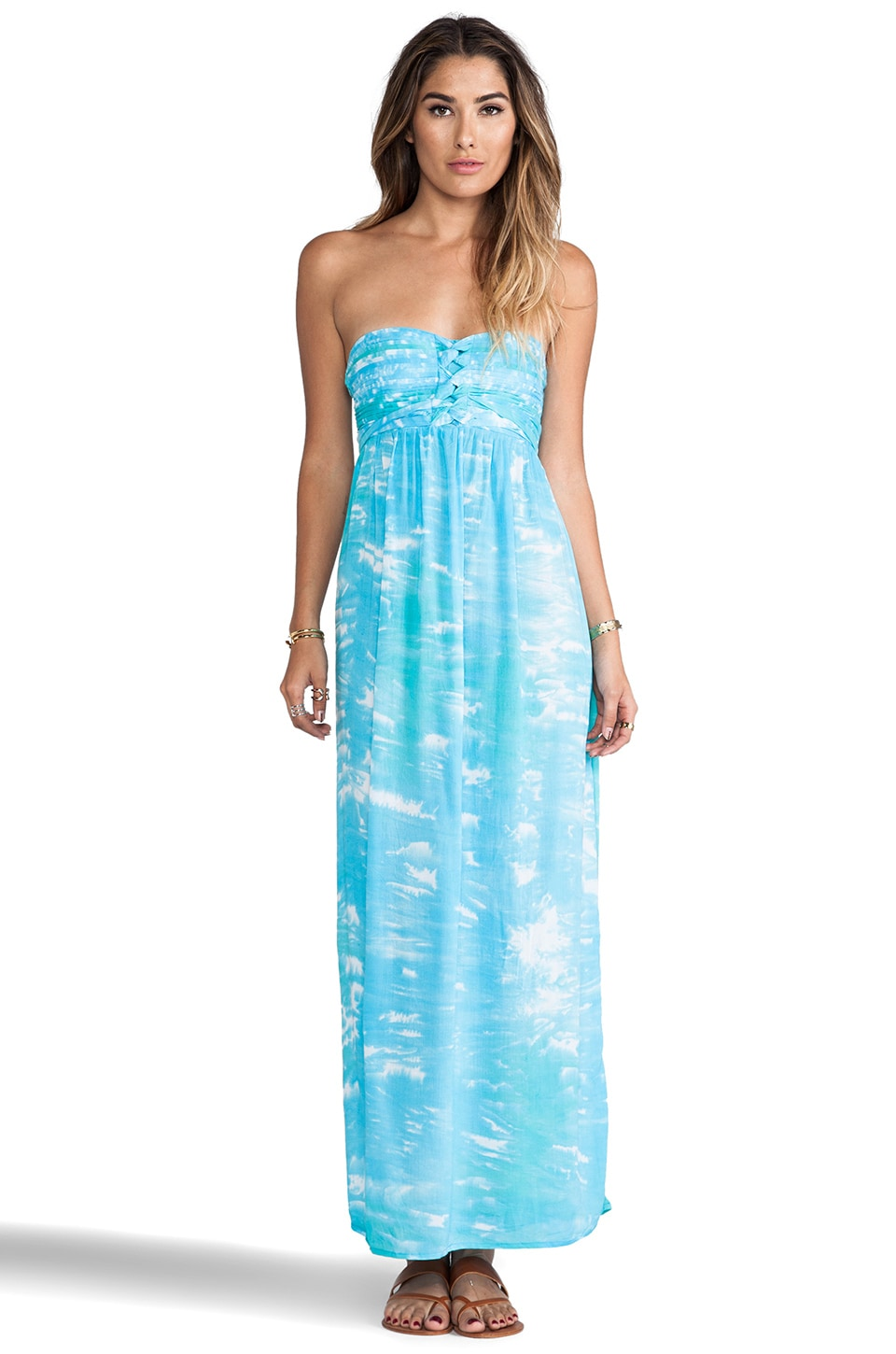 Tiare Hawaii Jasmine Maxi Dress in Underwater Print