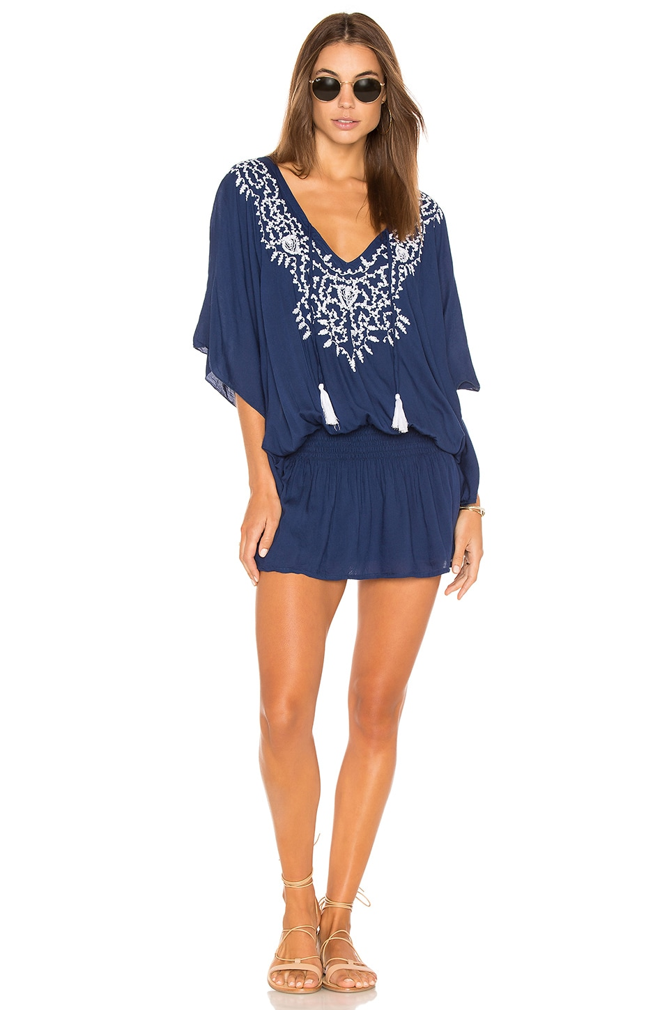 Tiare Hawaii Margarita Dress in Navy & White