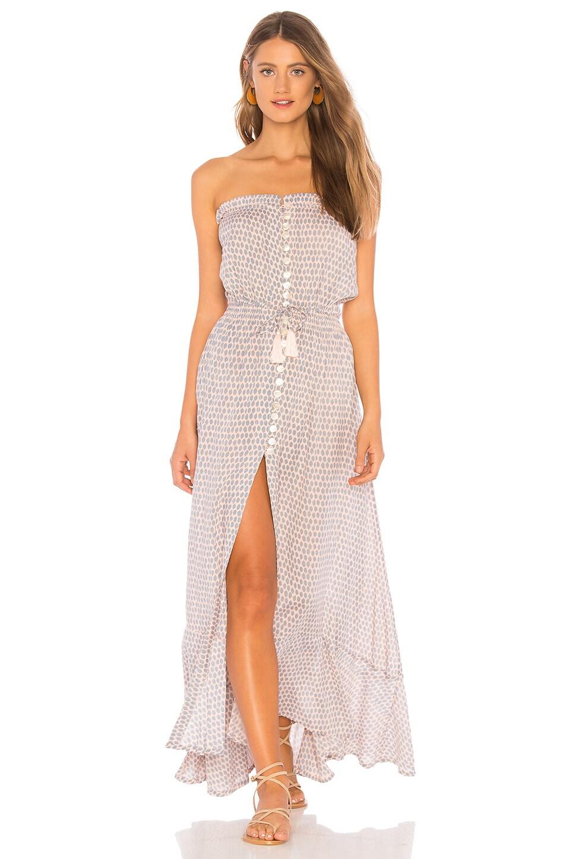 Tiare Hawaii Ryden Dress in Sleet Nude & Grey