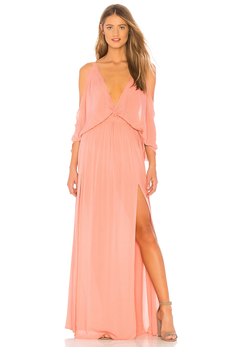 Tiare Hawaii Pez Cantina Dress in Dusty Rose