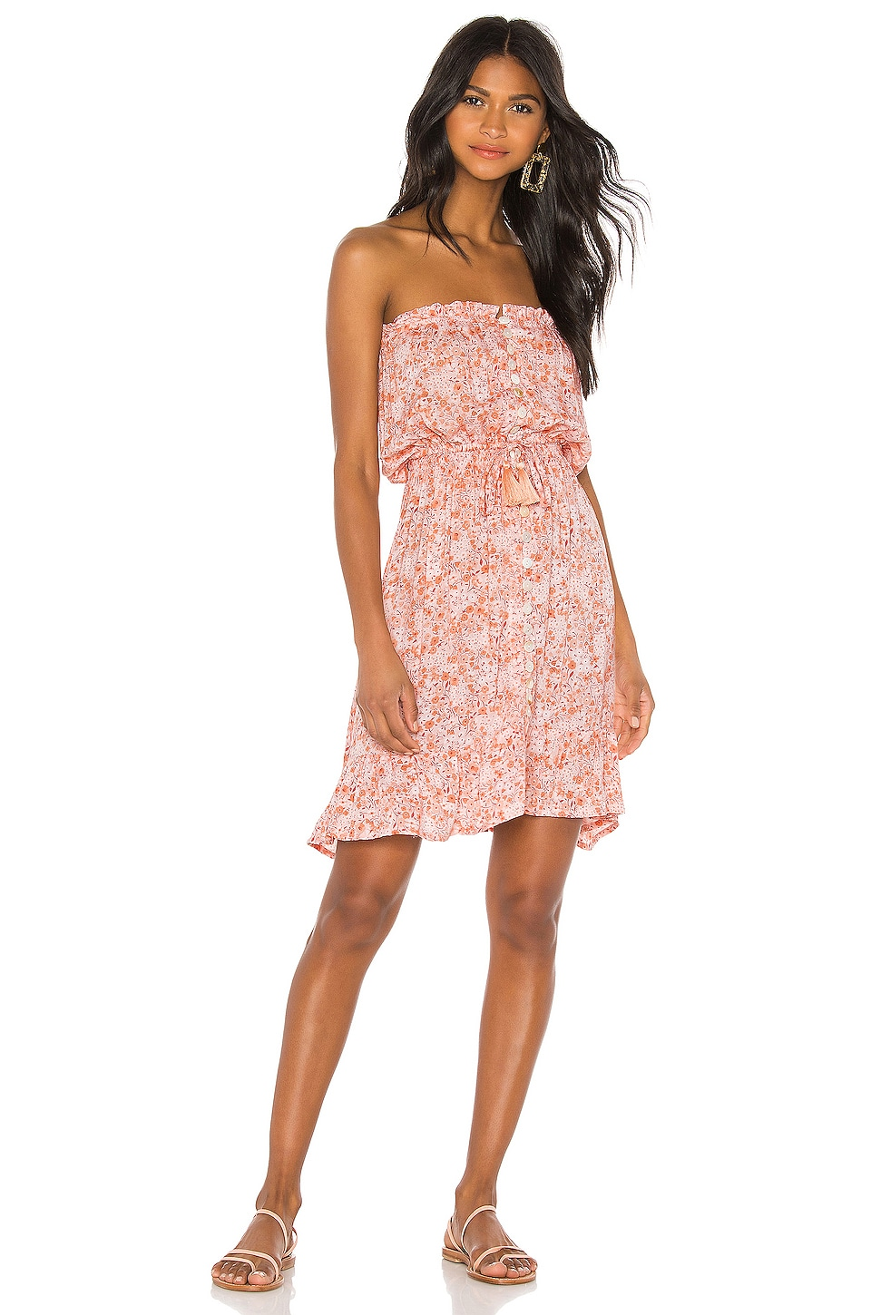 Tiare Hawaii Ryden Mini Dress in Love Spell Rose