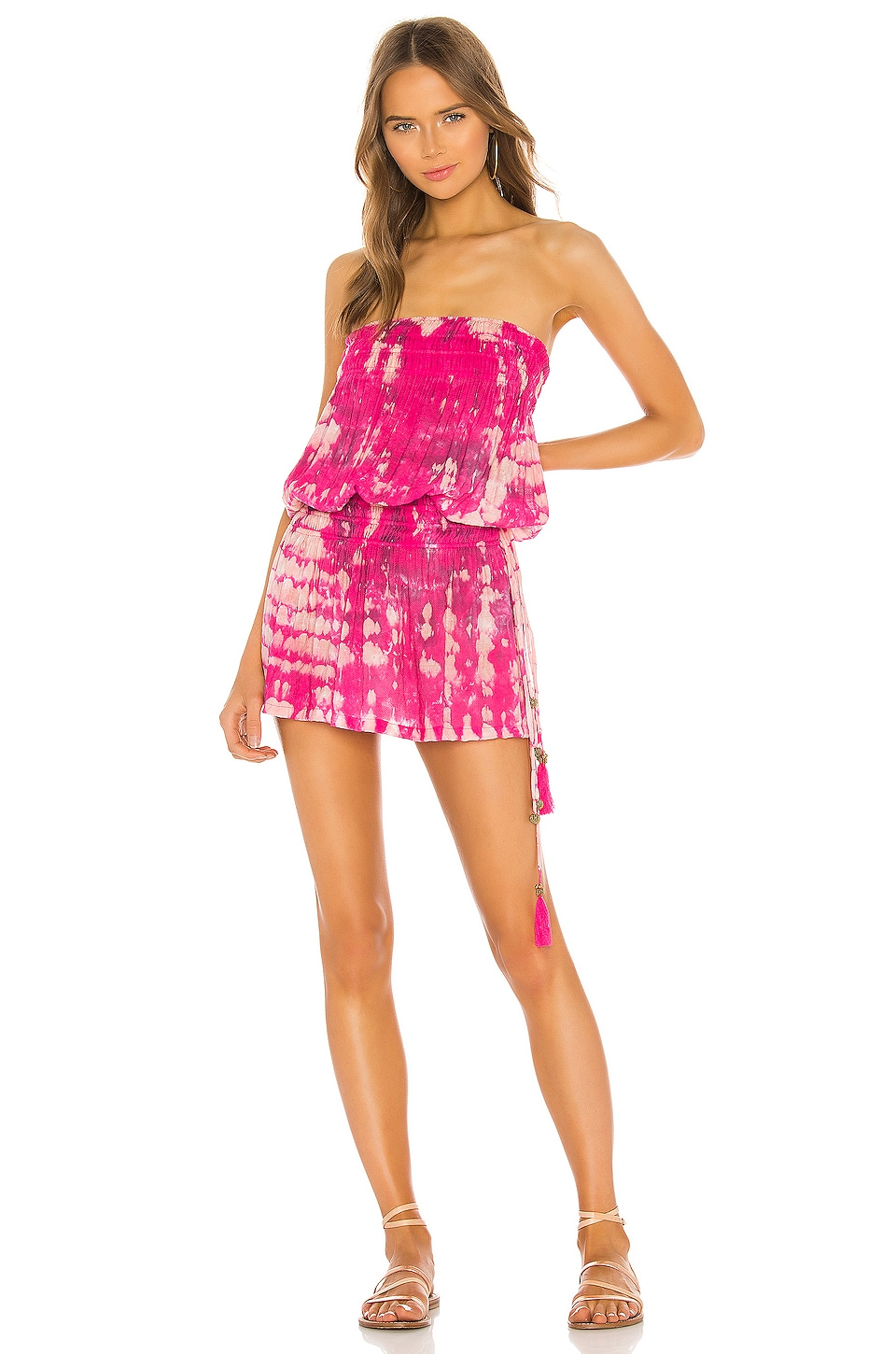 Tiare Hawaii Aina Dress in Fuchsia Stone Tie Dye