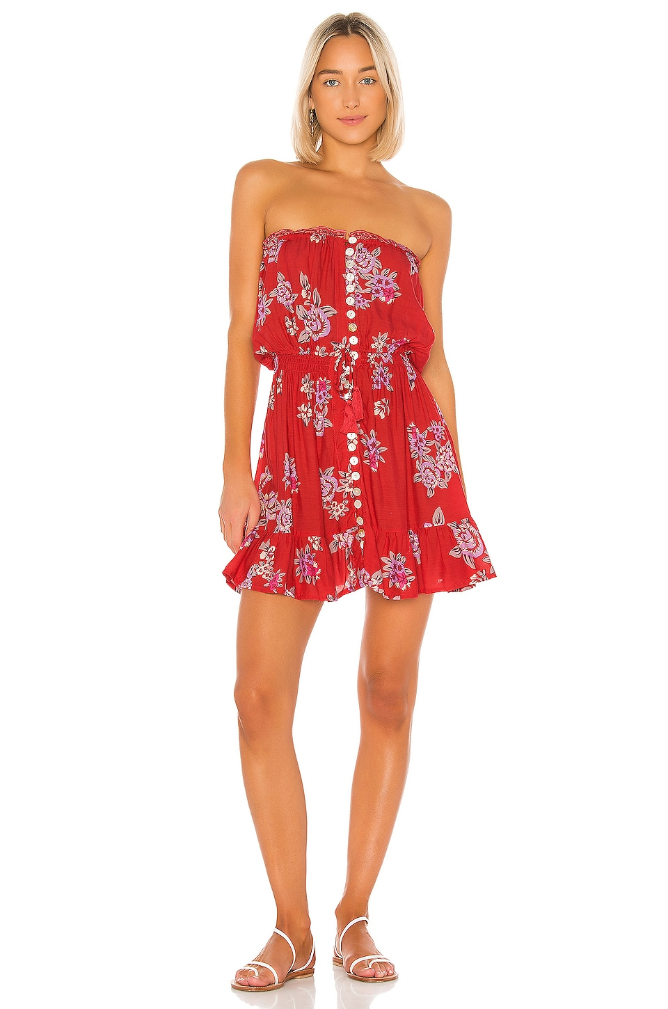 Tiare Hawaii Ryden Mini Dress in Vintage Hawaii Red