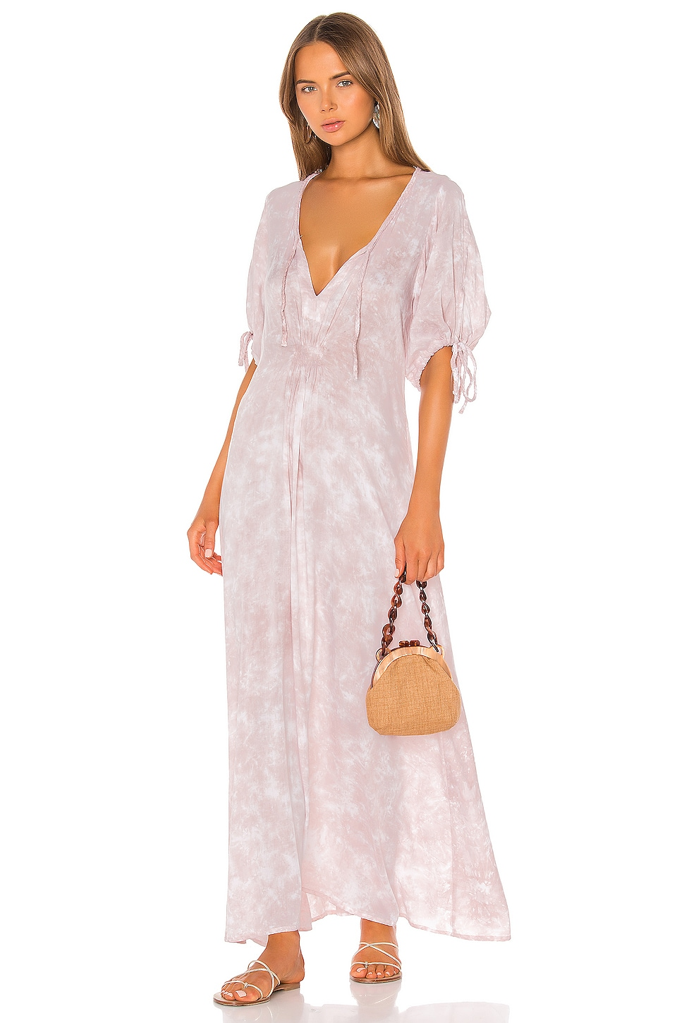 Tiare Hawaii Paroa Bay Dress in Mauve White