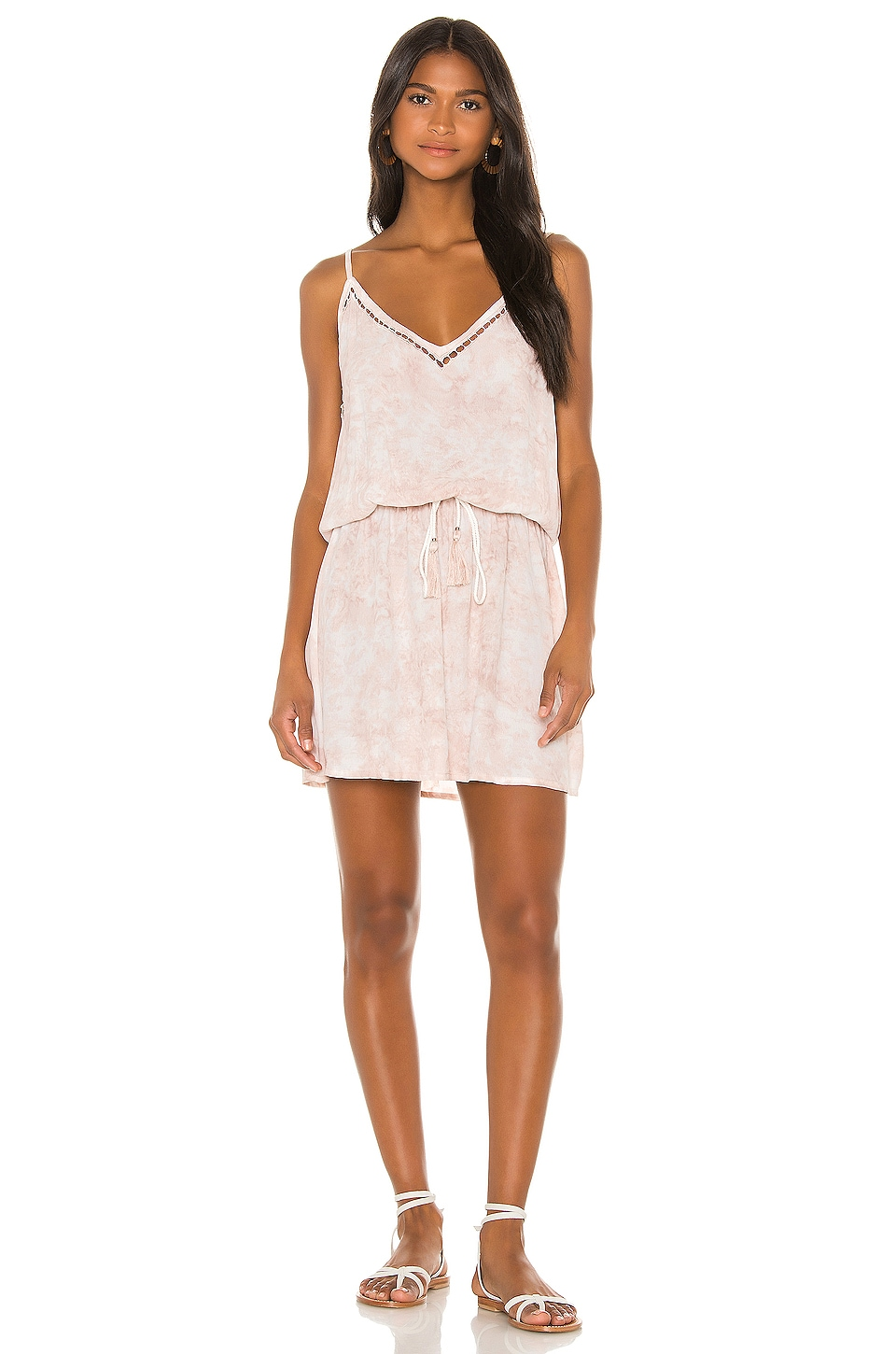 Tiare Hawaii Lana Eyelet Mini in Mauve White Smoke