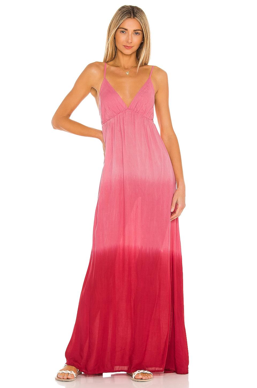 Tiare Hawaii Gracie Maxi Dress in Pink & Ruby Gradasi