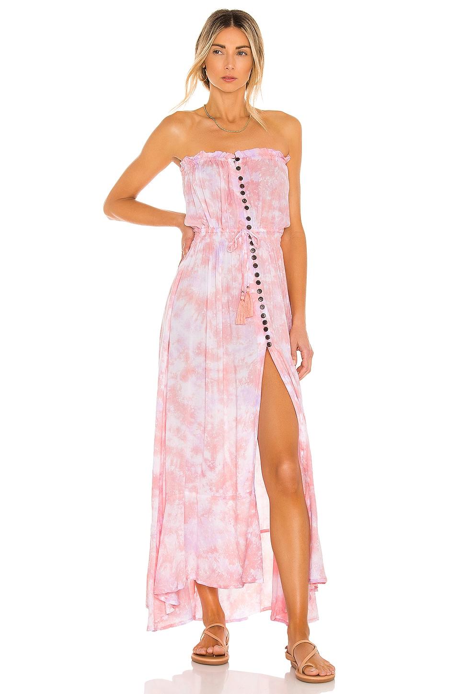 Tiare Hawaii Ryden Dress in Peach & Violet Smoke