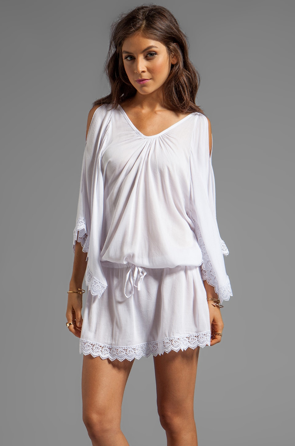 Tiare Hawaii Hoku Dress in White