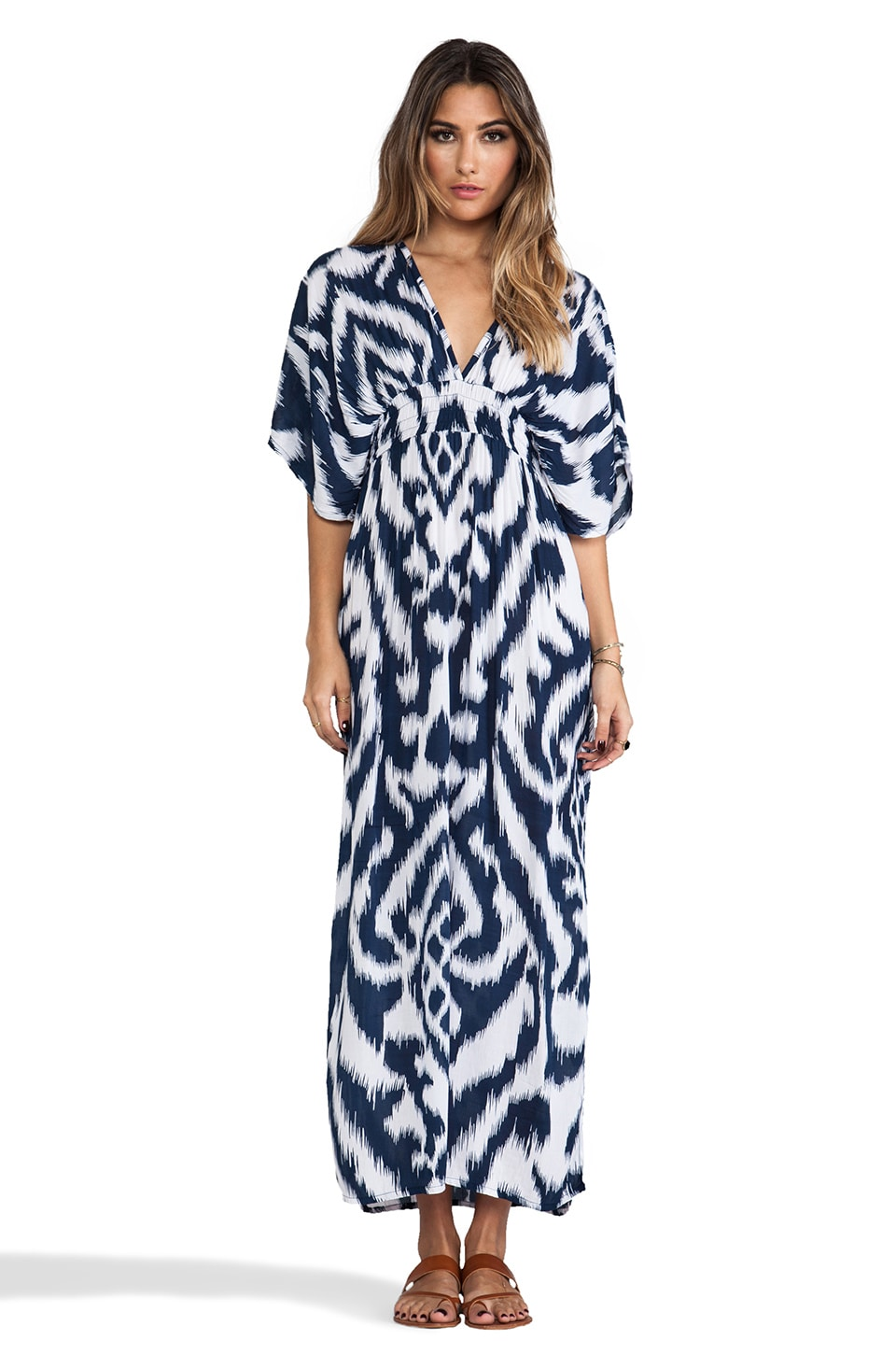 Tiare Hawaii Haiku Maxi Dress in Navy Balinese