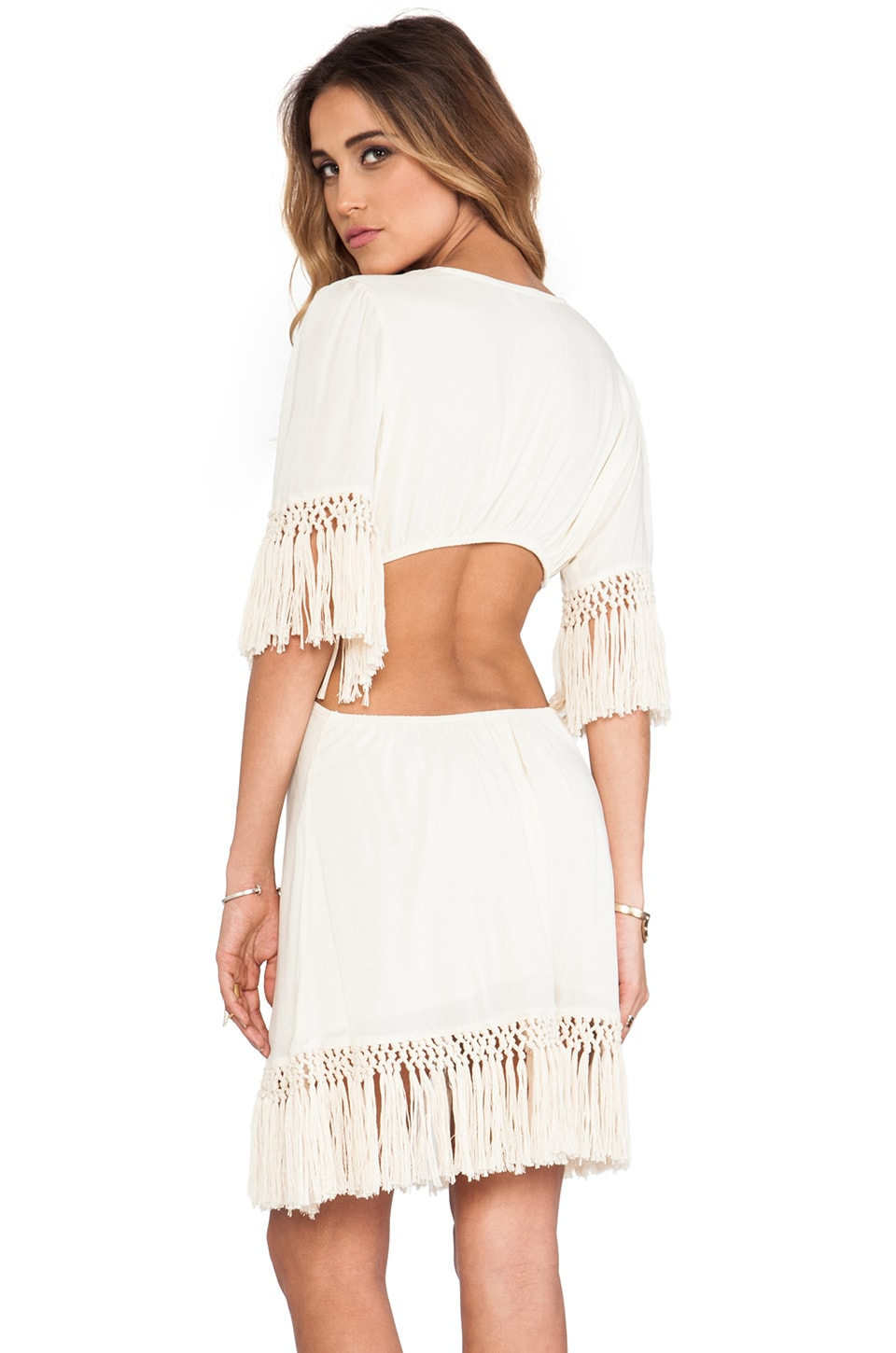 Tiare Hawaii Flyaway Dress in White
