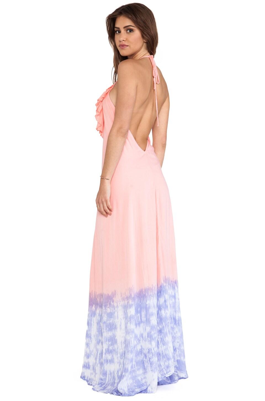 Tiare Hawaii Aries Halter Maxi Dress in Coral Lavender