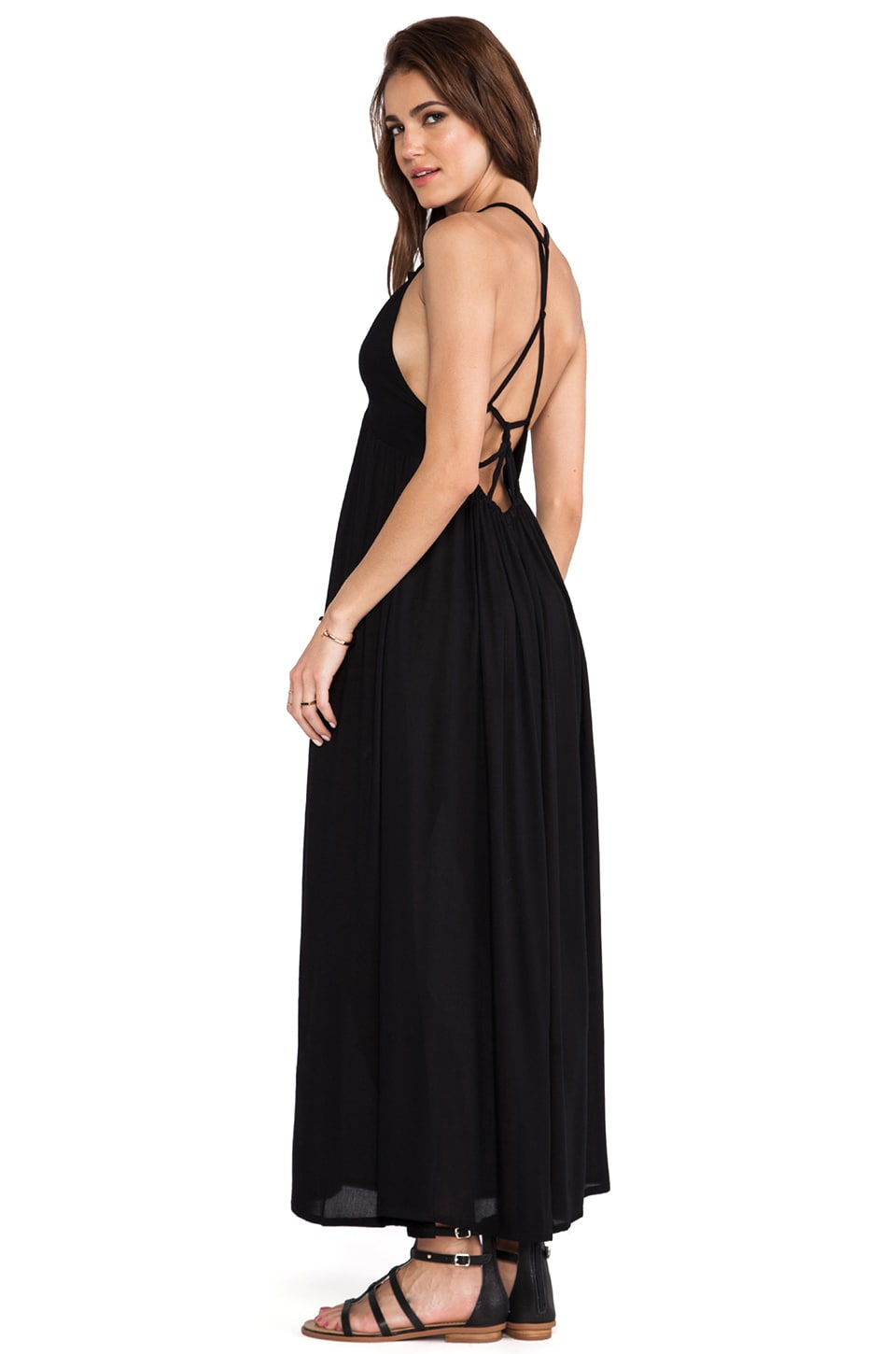 Tiare Hawaii Adair Maxi Dress in Black