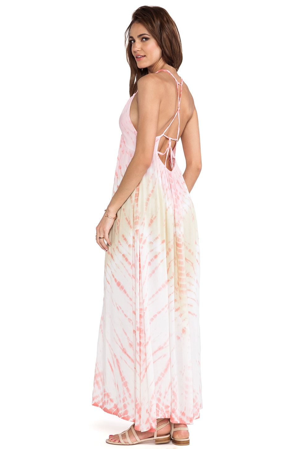 Tiare Hawaii Adair Vibe Maxi Dress in Orange & Dark Skin