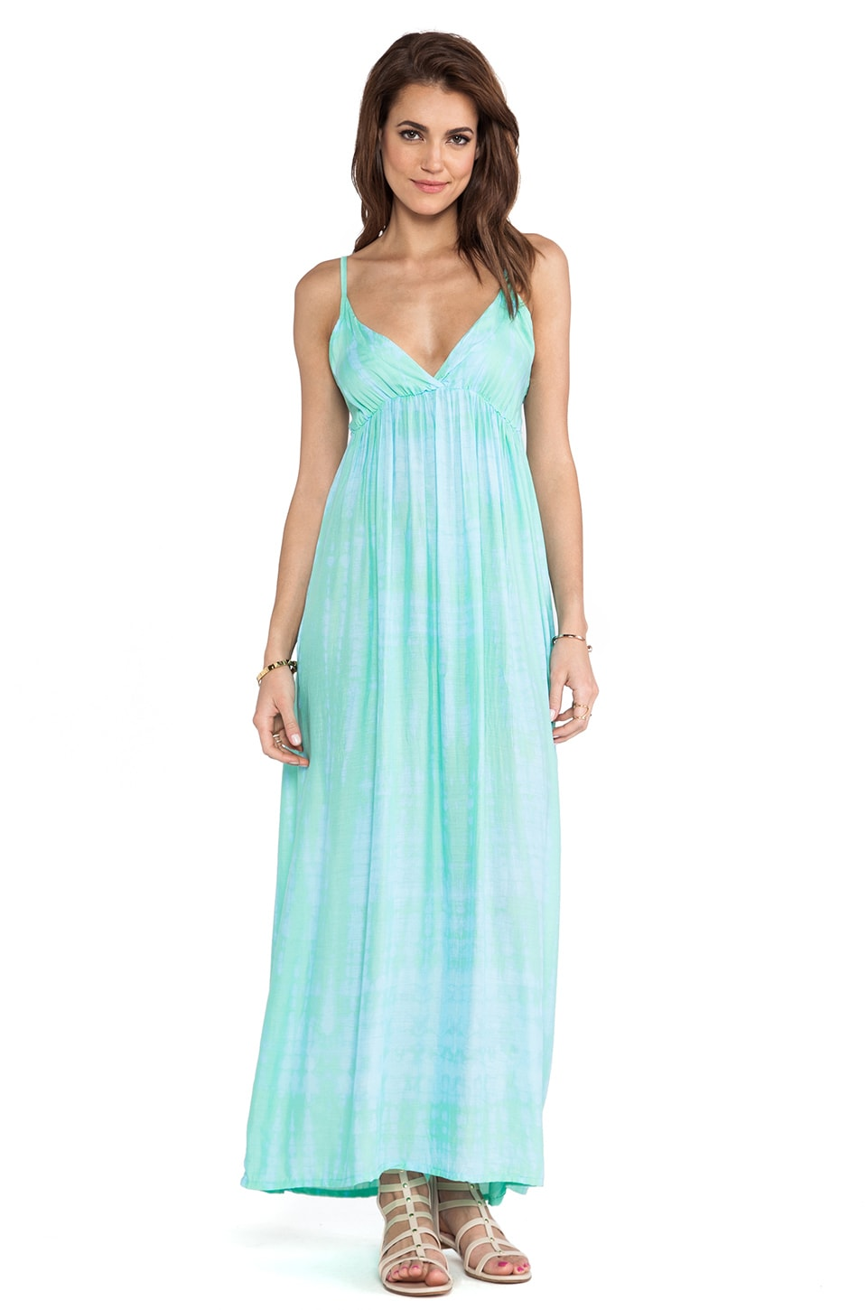 Tiare Hawaii Gracie Maxi Tie Dye in Teal Tile