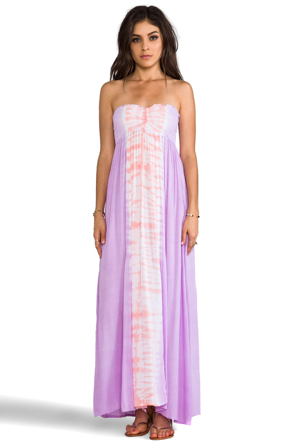 Tiare Hawaii Seaside Maxi Dress in Violet & Peach