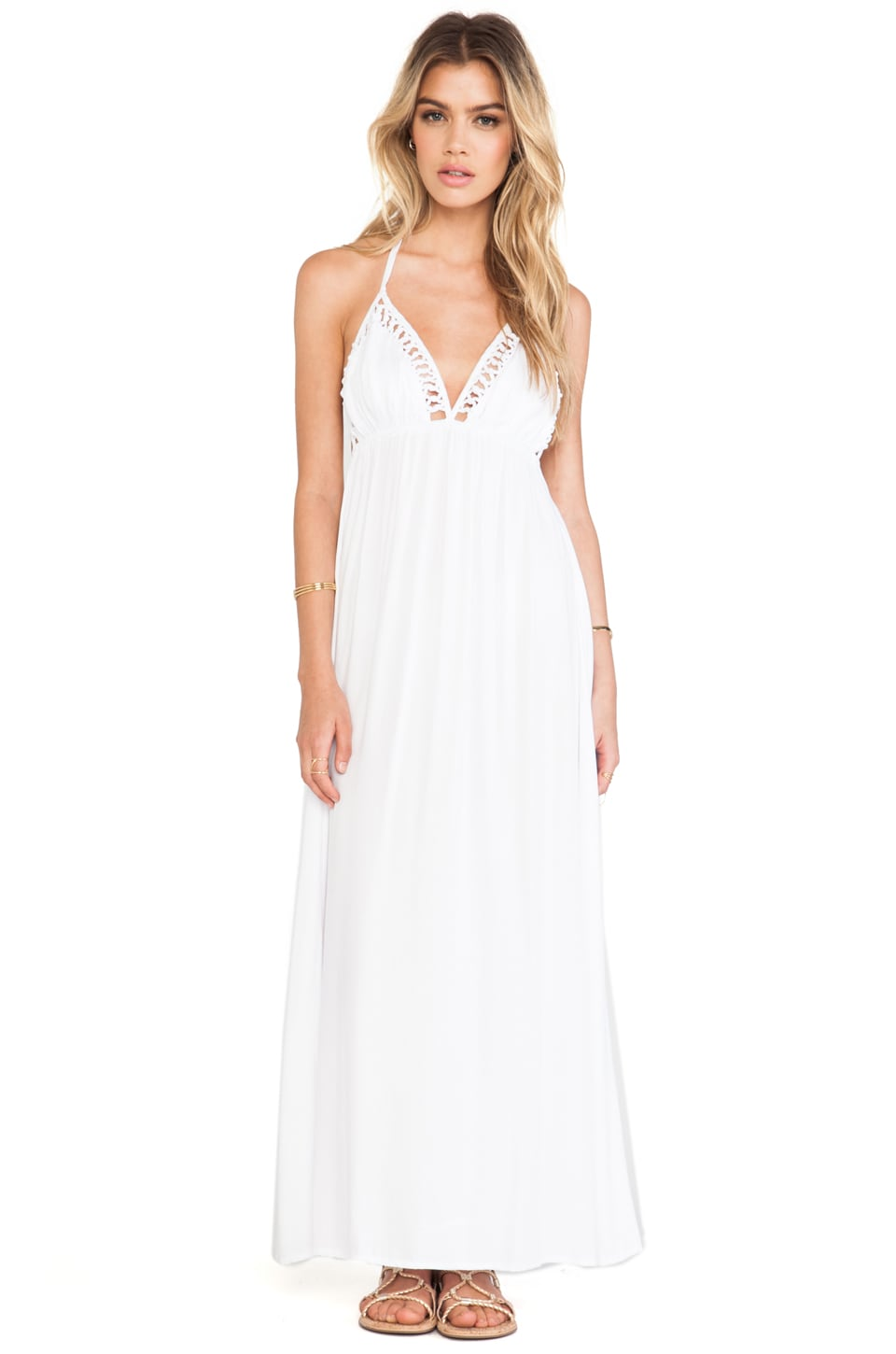 Tiare Hawaii First Date Maxi Dress in White
