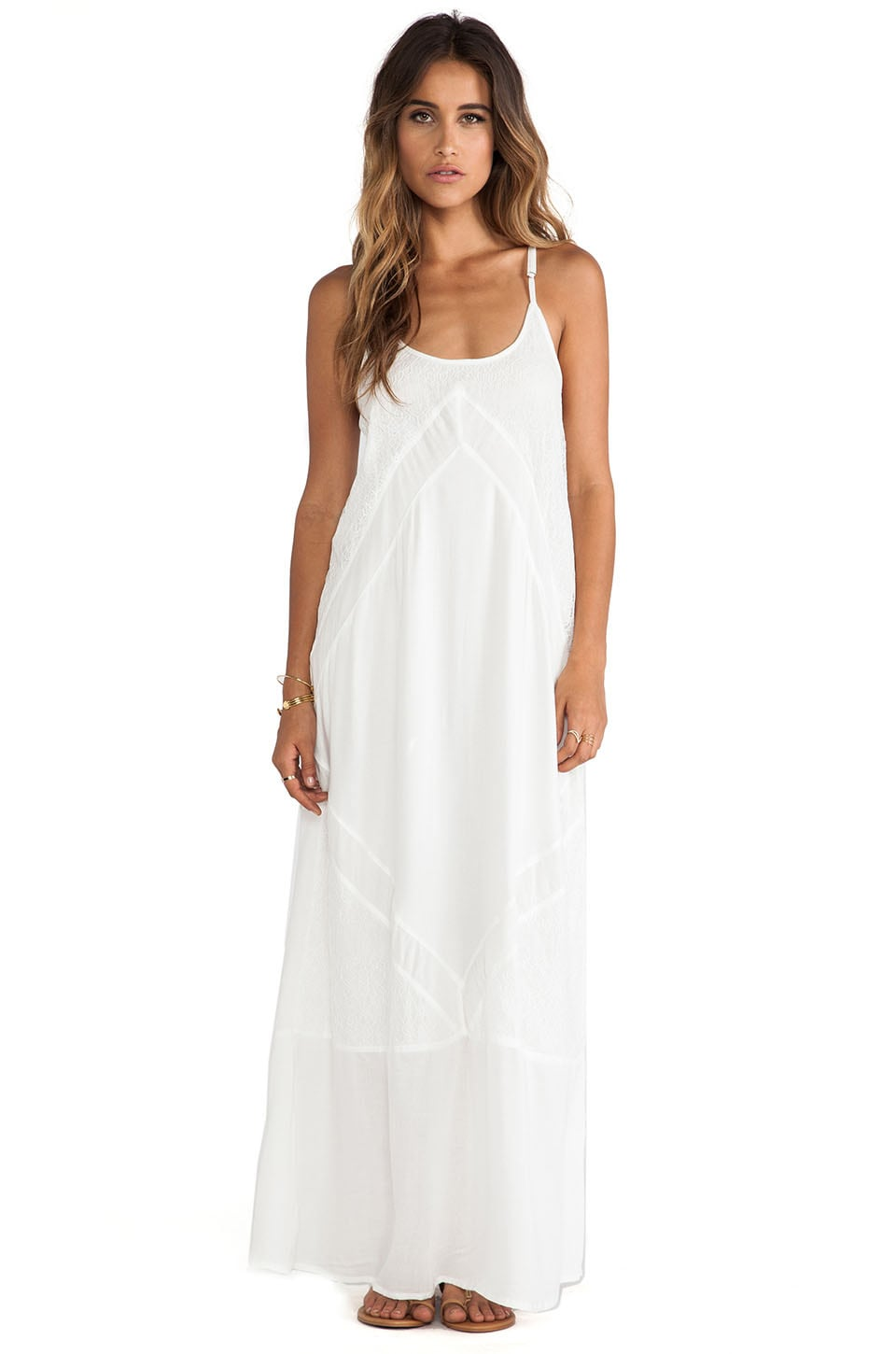 Tiare Hawaii Destiny Cami Maxi in White