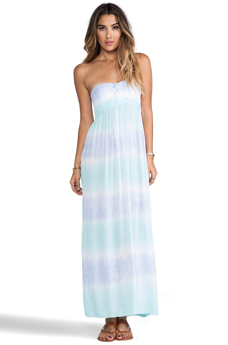Tiare Hawaii Jasmine Maxi Dress in Blue/Teal