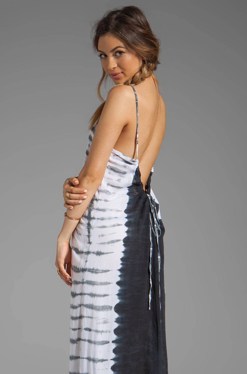 Tiare Hawaii Sandy Maxi Dress in Black/White/Grey
