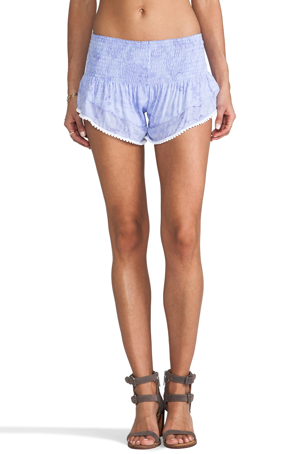 Tiare Hawaii Pom Pom Short in Violet Tie Dye