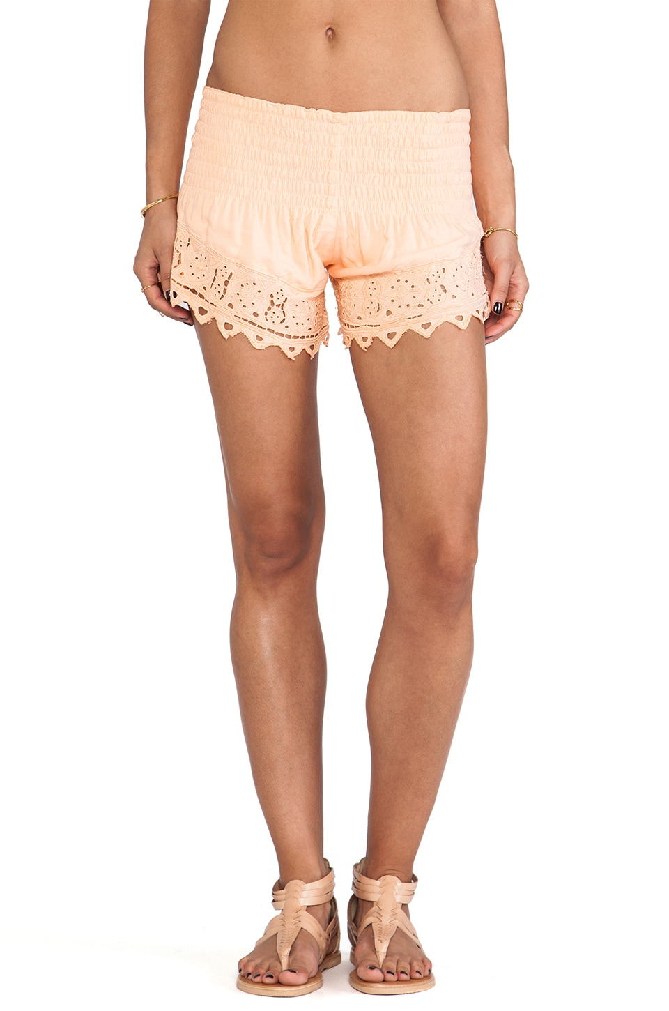 Tiare Hawaii Eyelet 2 Short in Peach