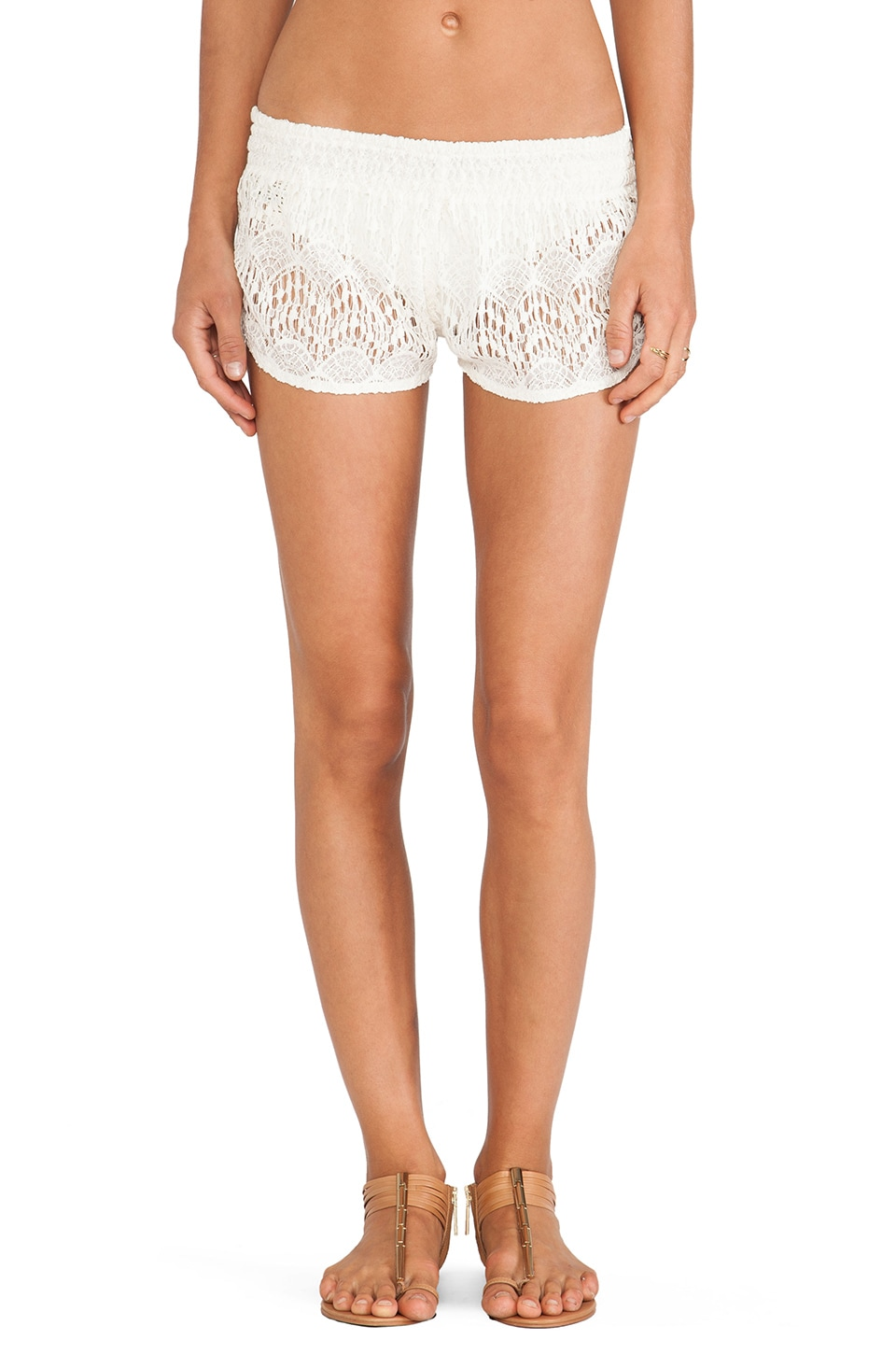 Tiare Hawaii Lace Shorts in Cream