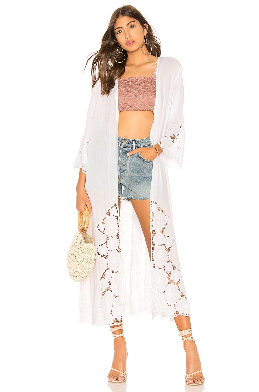 Tiare Hawaii Jagger Kimono in White