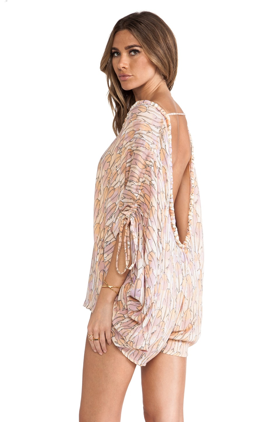 Tiare Hawaii Banyan Scoop Back Jumpsuit in Feather Print