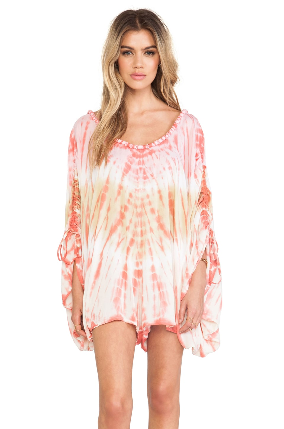Tiare Hawaii Banyans Romper in Orange & Skin Vibe