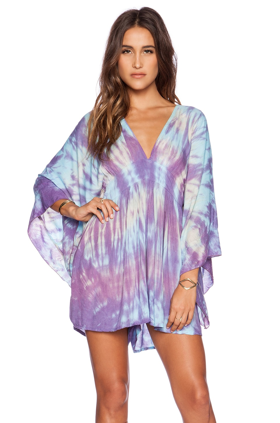 Tiare Hawaii Cairo Jumosuit in Purple & Cream Abstract