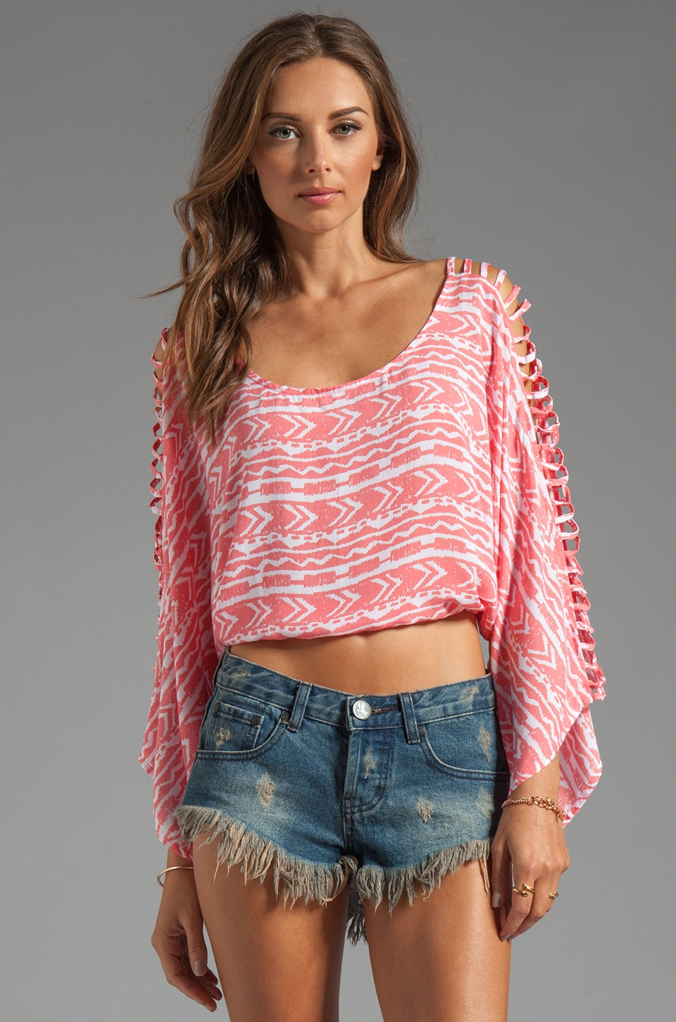 Tiare Hawaii Phoenix Top in Coral Totem