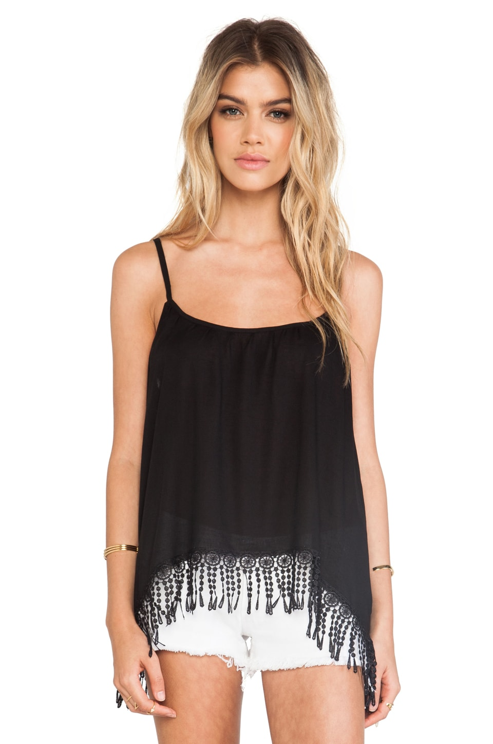 Tiare Hawaii Dora Tank Top in Black