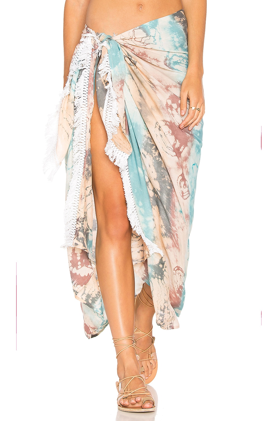 Tiare Hawaii Sarong in Island Aqua, Grey & Skin
