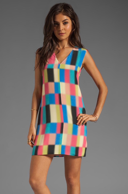 Tibi Vertex Shift Dress in Rose Multi