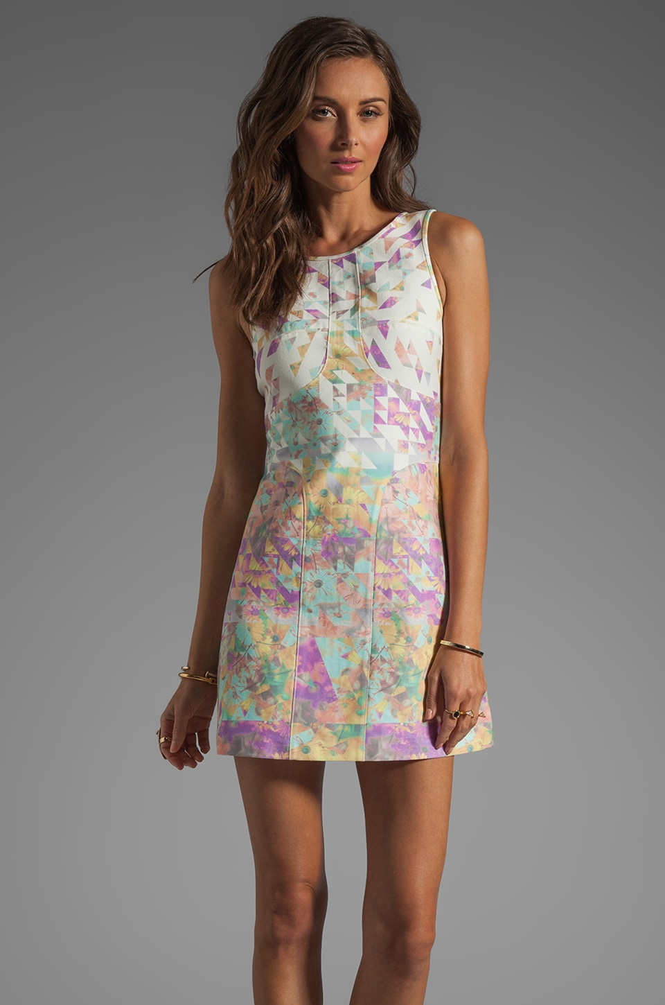 Tibi Velocity Dress in Pastel Multi
