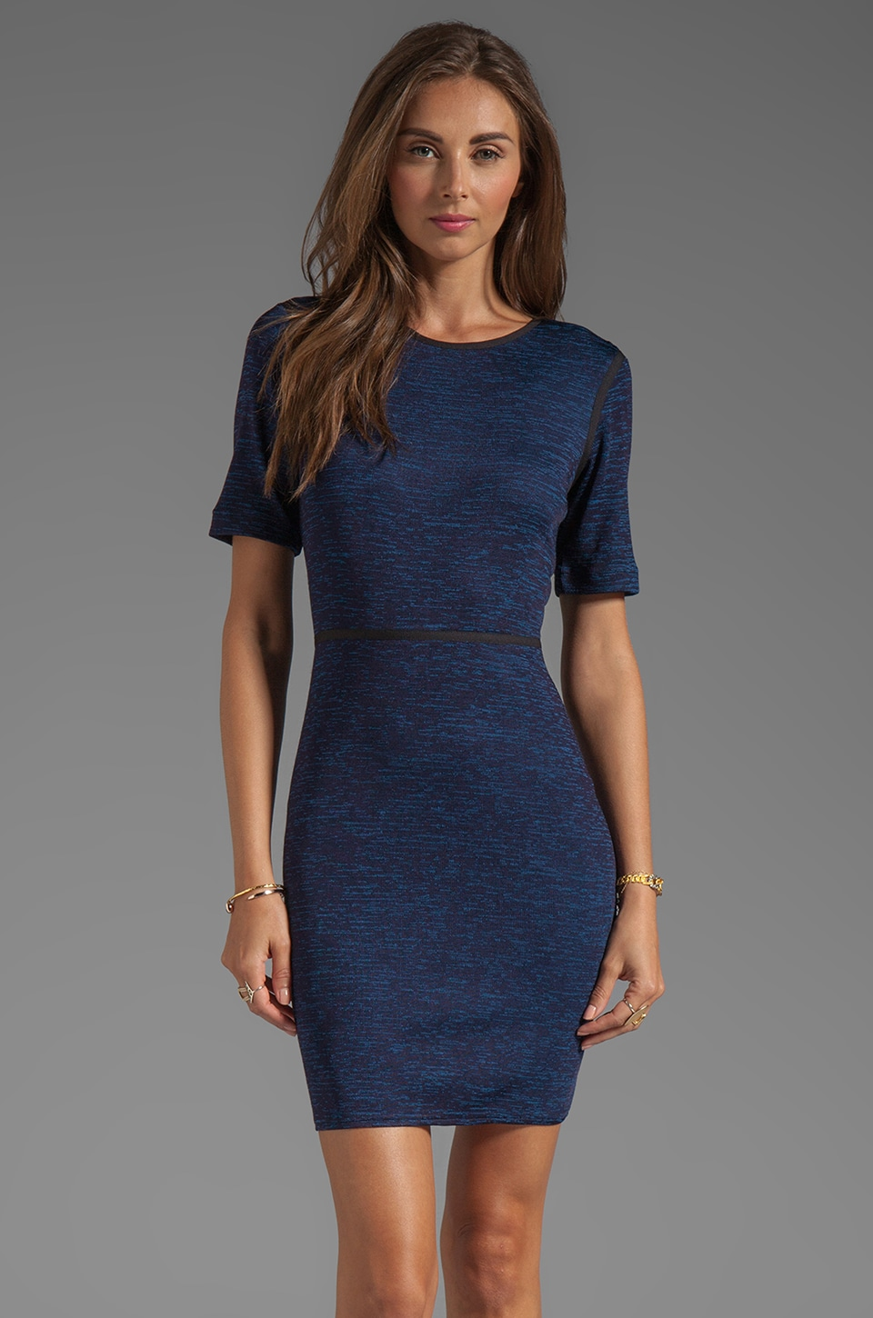 Tibi Space Dyed Jersey Dress in Blue