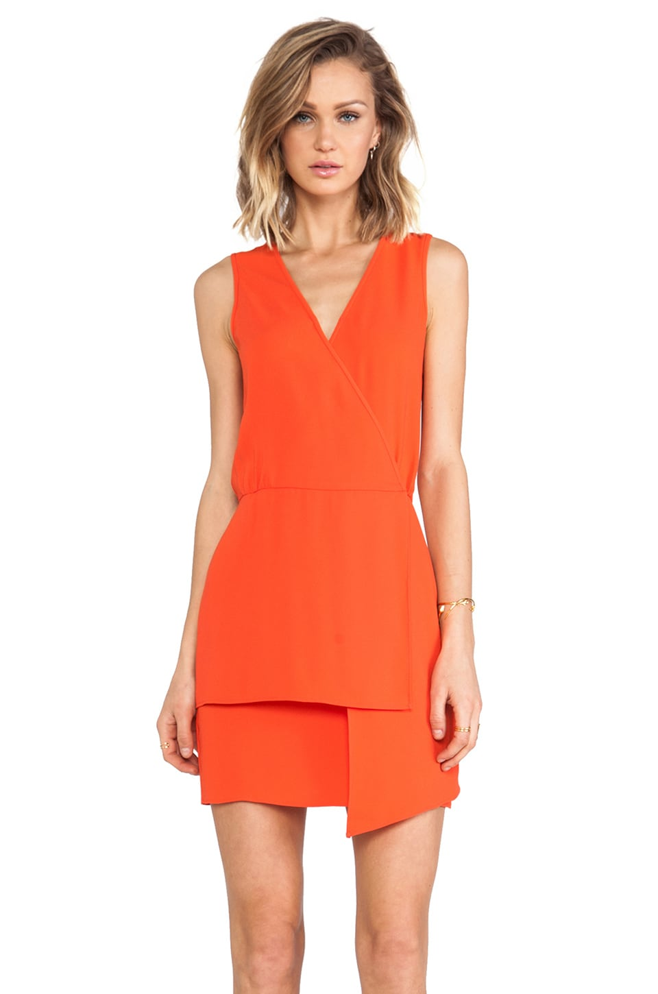 Tibi Bibelot Dress in Cayenne