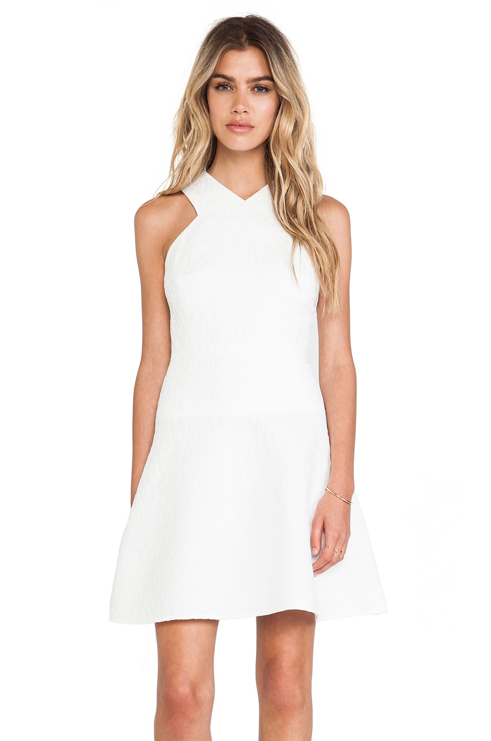 Tibi Rime Dress in Ivory