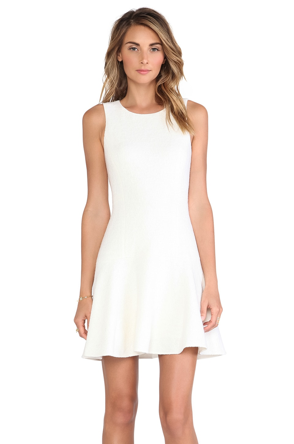 Tibi Kai Flirty Dress in Ivory