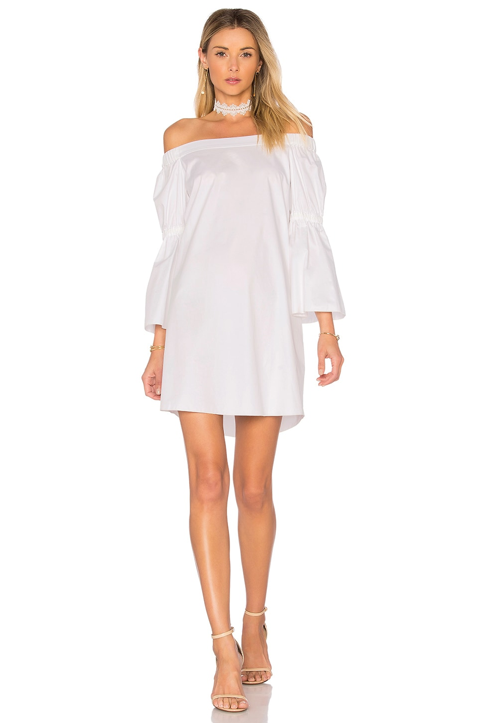 Lantern Sleeve Dress by Tibi