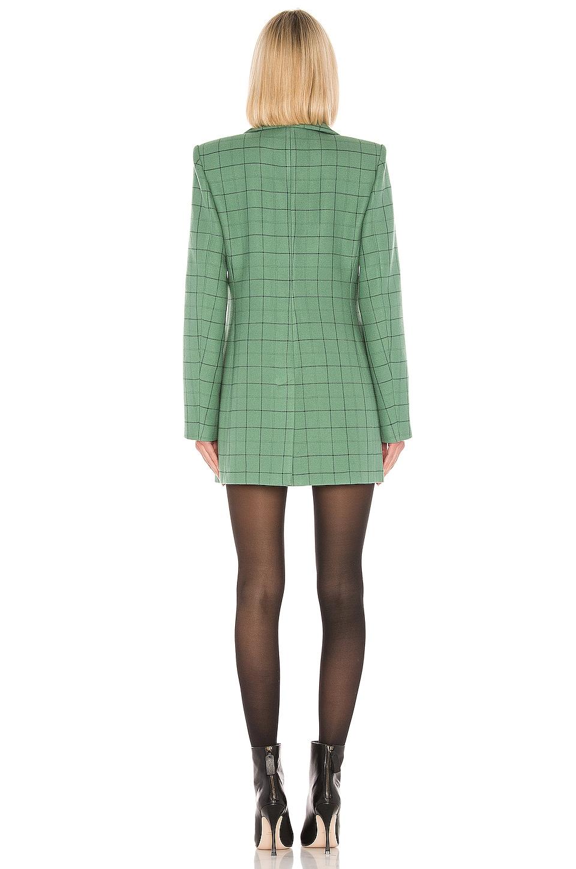 Tibi Blazers Windowpane Peaked Lapel Blazer Dress